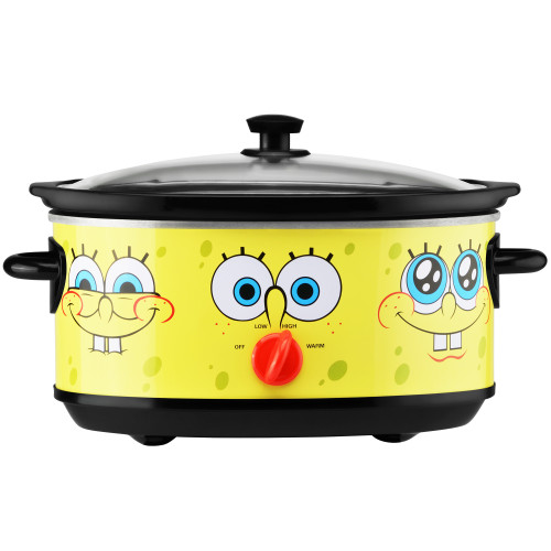 SpongeBob 7-Quart oval slow cooker yellow with SpongeBob SquarePants graphic NKL-71 Select Brands