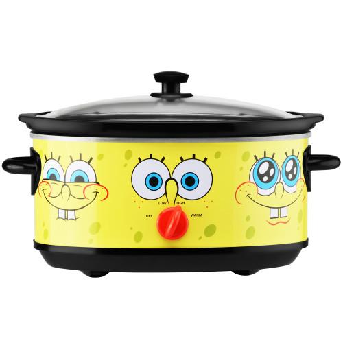 SpongeBob 7-Quart oval slow cooker yellow with SpongeBob SquarePants graphic NKL-71 Select Brands