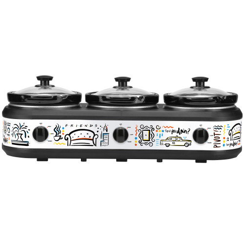 FRIENDS three insert slow cooker WBF-325 Select Brands