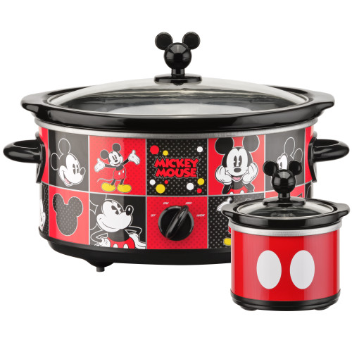Disney Mickey Mouse 5-Quart Slow Cooker with 20 ounce dipper mini slow cooker DCM-502 Select Brands