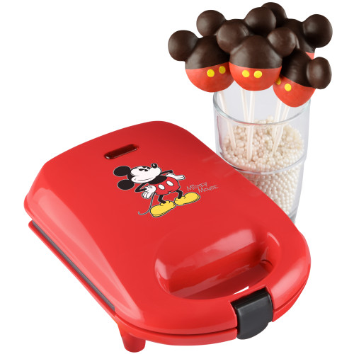 Mickey Mouse cake pop maker red with decorated Mickey cake pops DCM-8 Select Brands