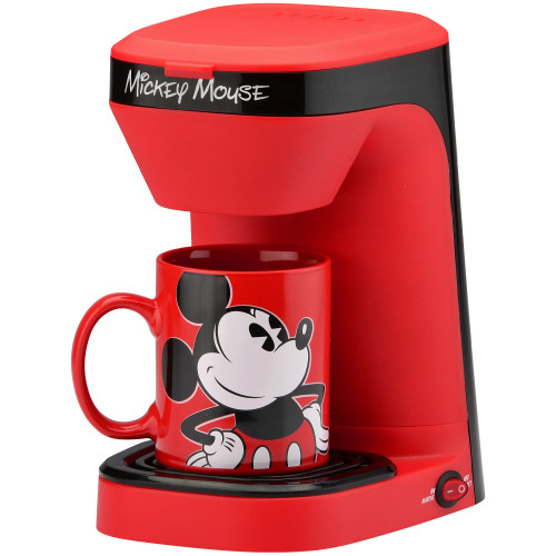 Mickey Mouse 1-cup coffee maker with 12 ounce Mickey mug DCM-123CN Select Brands