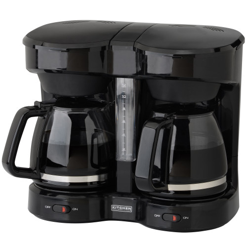Kitchen Selectives dual carafe 12-cup coffee maker CM-302BL Select Brands