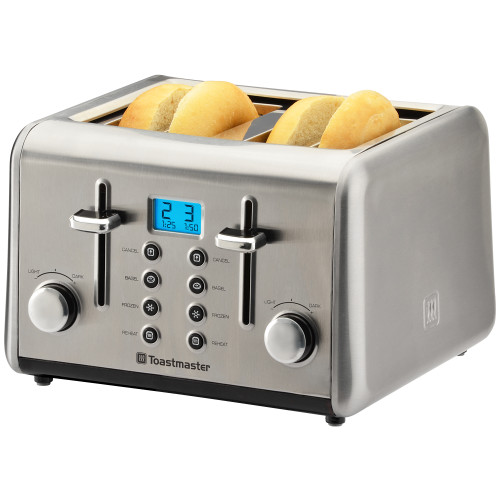 Toastmaster 4-Slice Digital Toaster stainless TM-48TS Select Brands