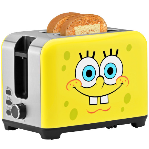 SpongeBob 2-Slice Toaster yellow with SpongeBob SquarePants graphic NKL-23 Select Brands