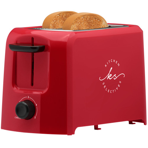 Kitchen Selectives 2-slice toaster color series red TS-12RD Select Brands