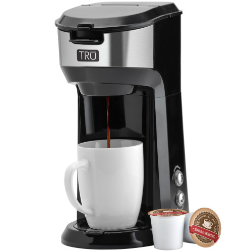 TRU single serve dual brew black and stainless CM-1177 Select Brands