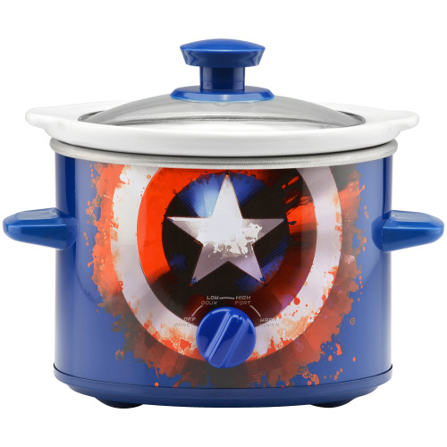 MARVEL Captain America 2 Quart Slow Cooker MVA-200CN Select Brands