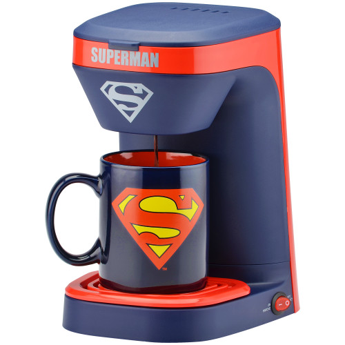 Superman 1-cup coffee maker with 12 ounce mug DCS-123CN Select Brands