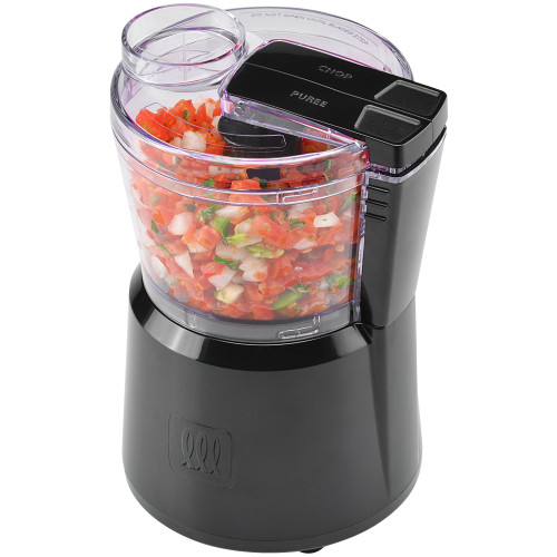 Toastmaster 3 cup mini chopper with 2 speeds and pulse, black TM-30MC Select Brands