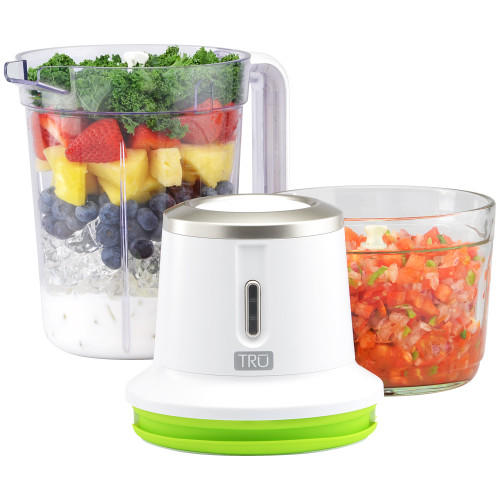 TRU Cordless Rechargeable Combo Set with Rechargeable Party Blender and Rechargeable Chopper RC-500CP Select Brands