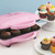Babycakes full size 12 cupcake maker pink open with chocolate cupcakes CC-12 Select Brands