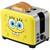 SpongeBob 2-Slice Toaster yellow with SpongeBob SquarePants graphic alt angle NKL-23 Select Brands