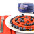Captain America shield waffle maker lifestyle image with red waffle and berries MVA-278 Select Brands