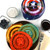 Captain America shield waffle maker lifestyle image with colorful waffles MVA-278 Select Brands
