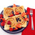 Avengers waffles lifestyle image on plate with berries MVA-281 Select Brands