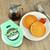 """Star Wars The Child 4"""" mini waffle maker lifestyle image with waffles and syrup LSW-46C Select Brands"""