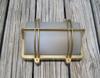 brass wall mounted rectangle ship light