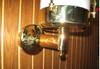 European brass wall arm nautical light