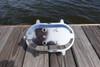 chrome oval dock light - rear view