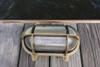 brass oval hooded nautical light