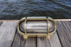 brass oval nautical light with eyebrow