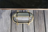 top view oval brass hooded nautical light
