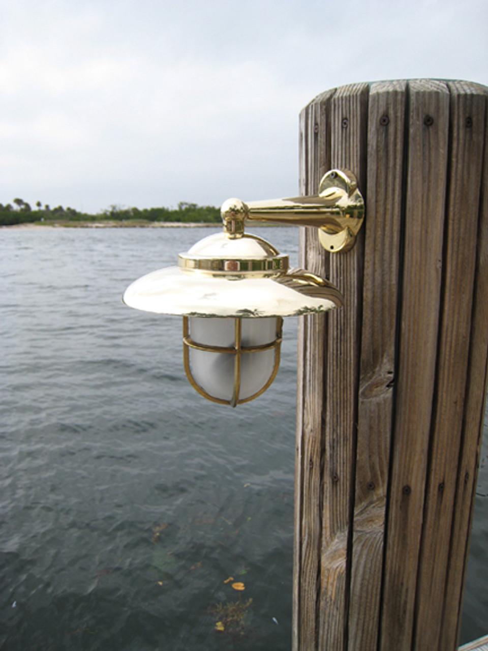 brass nautical wall sconce