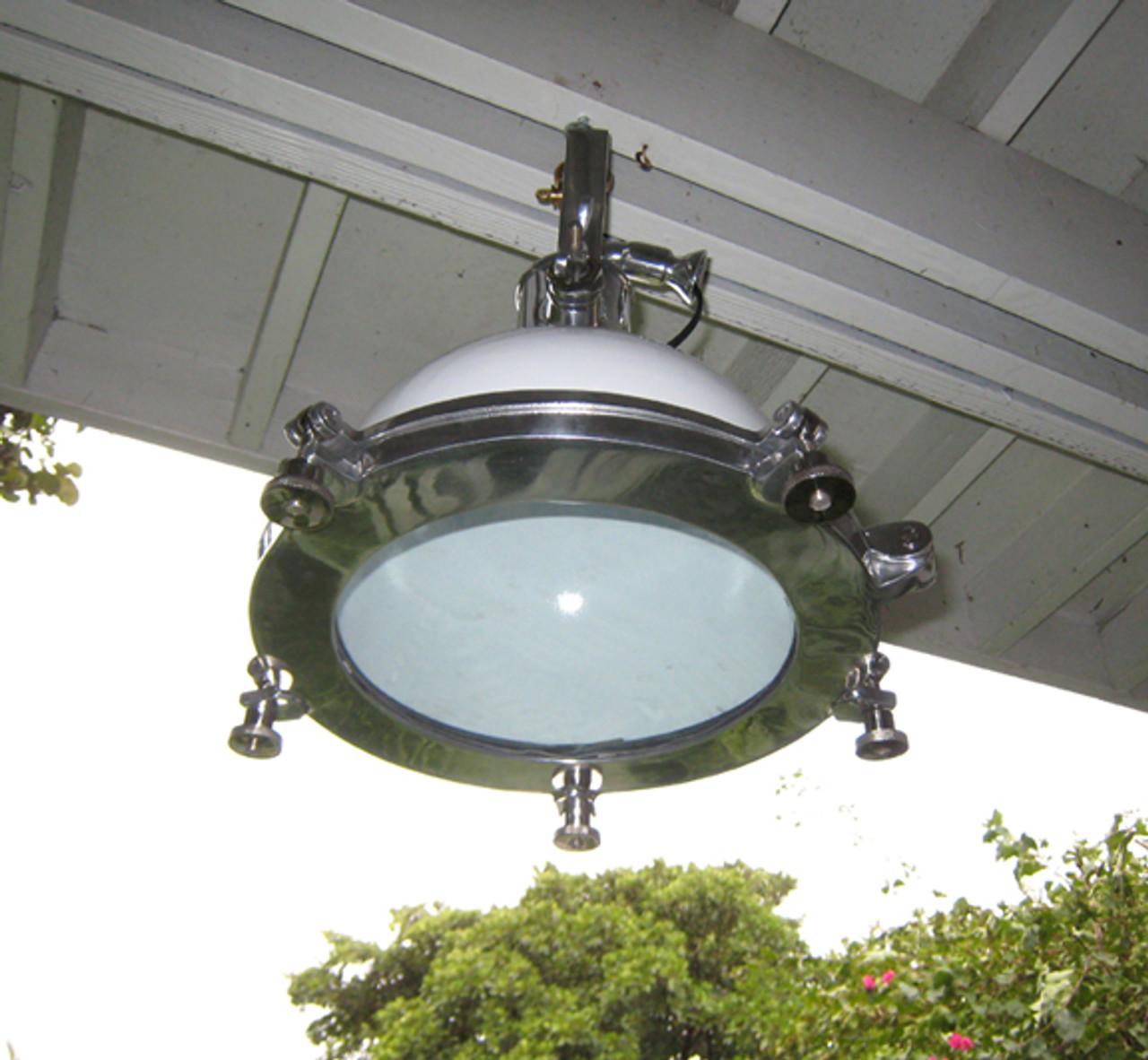 aluminum nautical light inside view