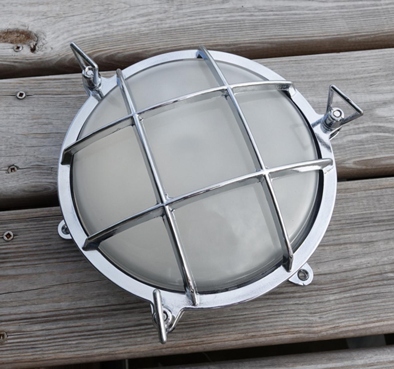 chrome nautical bulkhead light