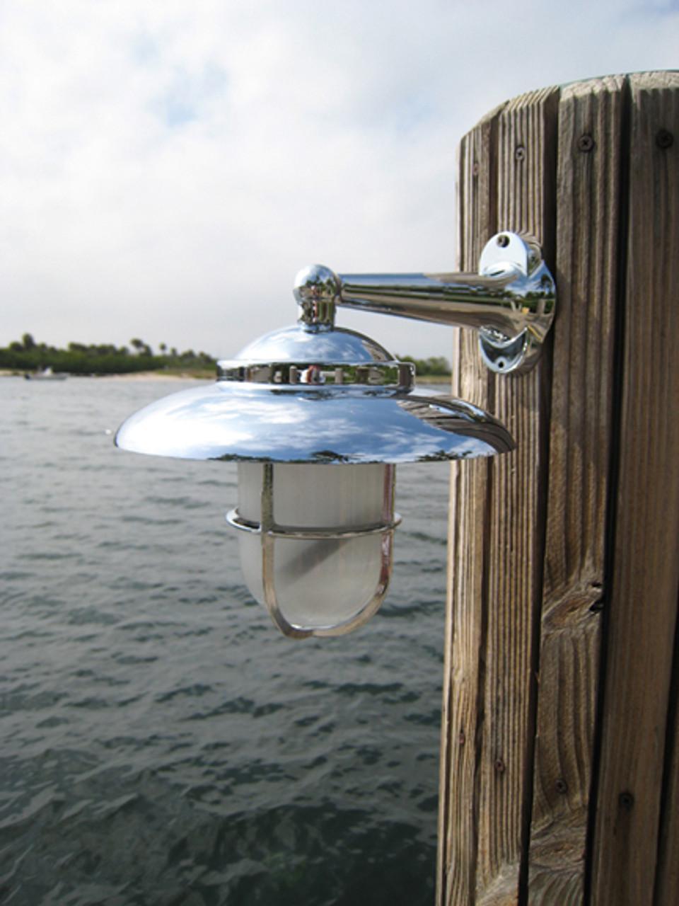 chrome nautical bathroom light