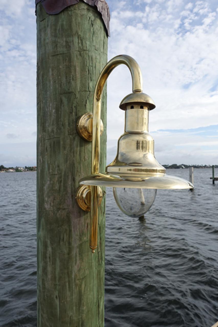 brass marina dock light
