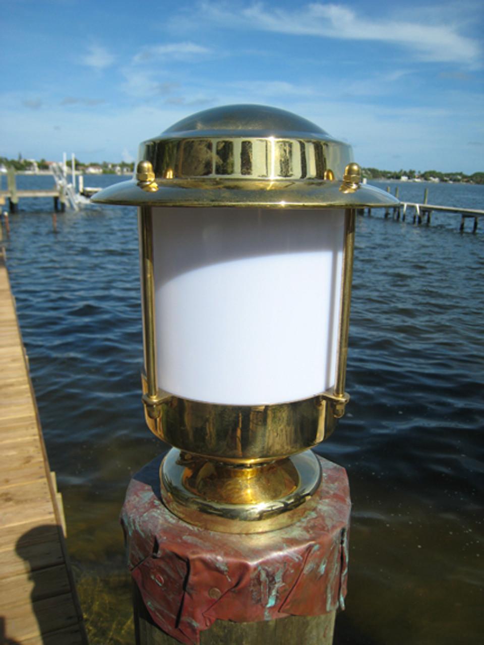 coastal brass dock light