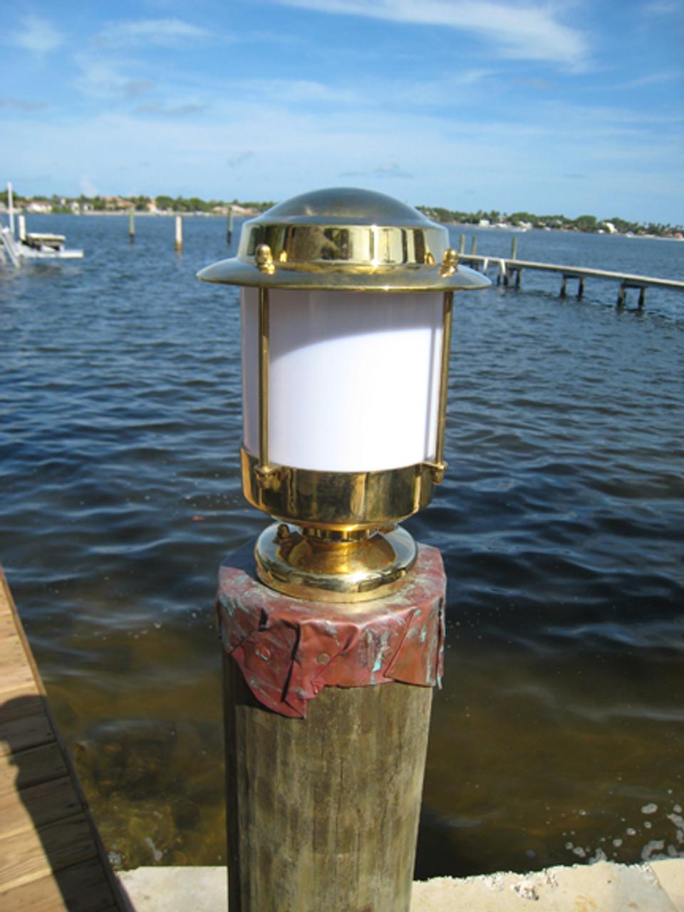 European brass piling dock light