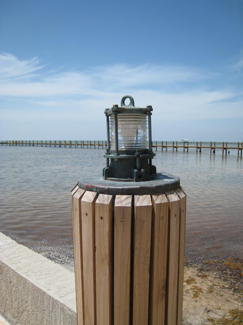 bronze patina nautical dock light