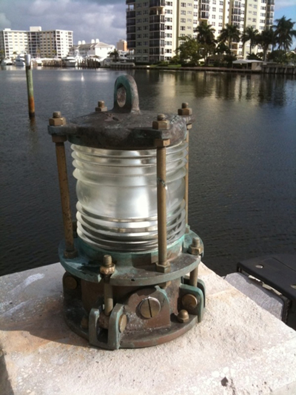 bronze nautical patina pier light