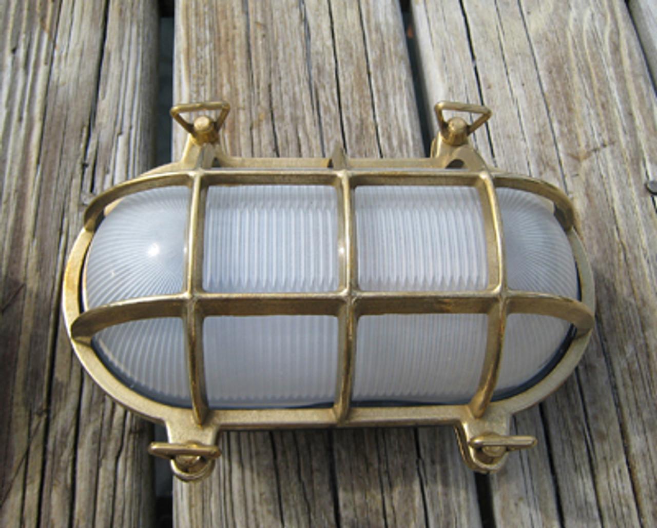 brass nautical bulkhead ship light-oval shape