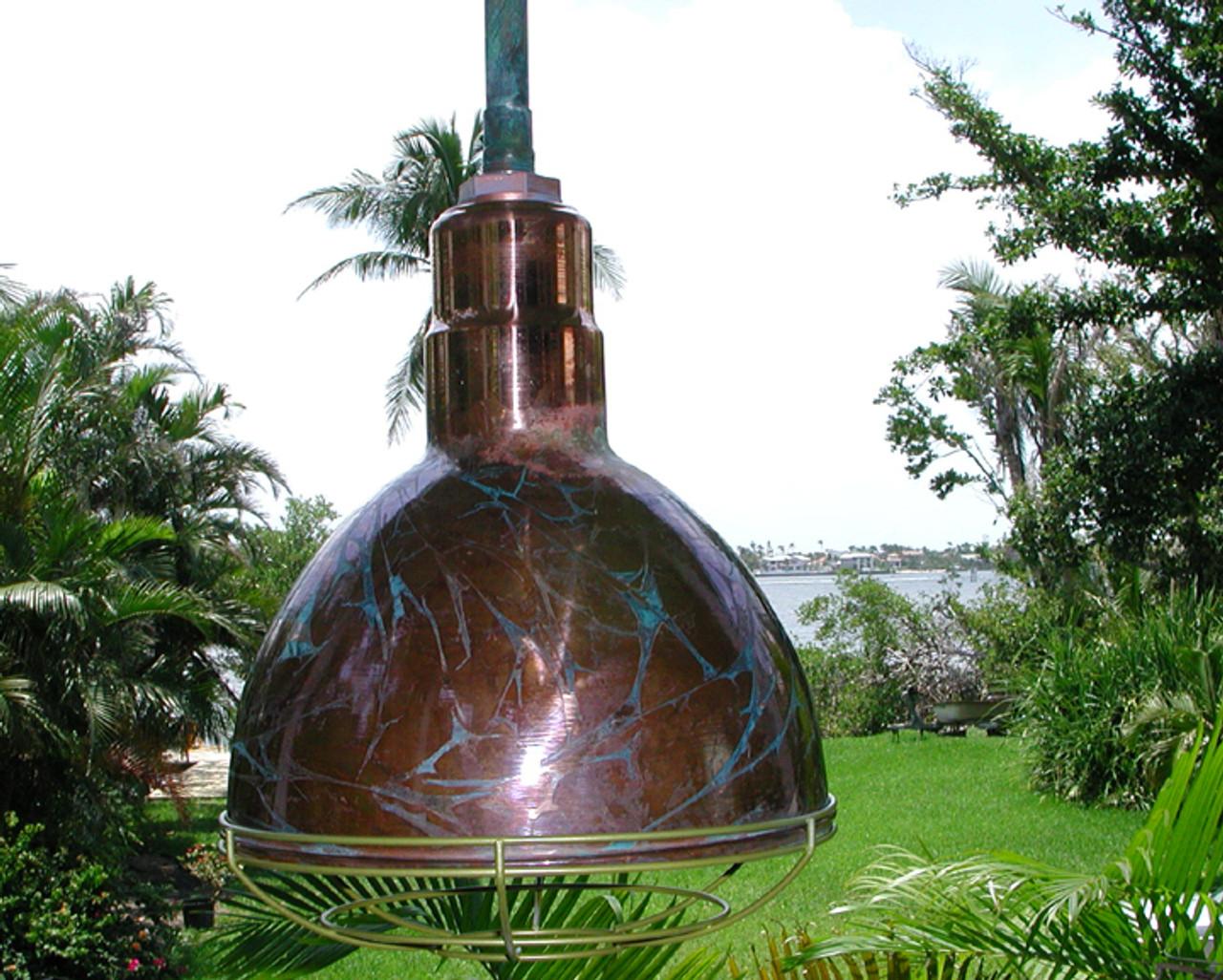 copper bowl hanging light