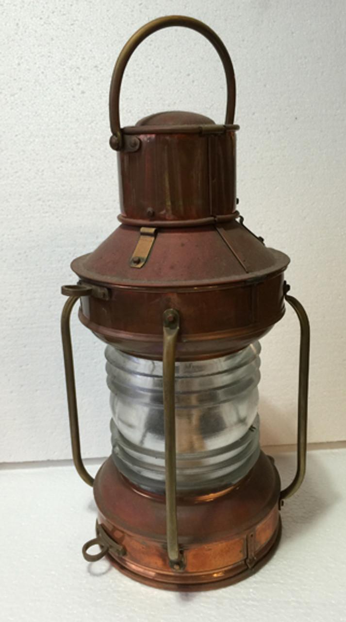 small copper ship lantern