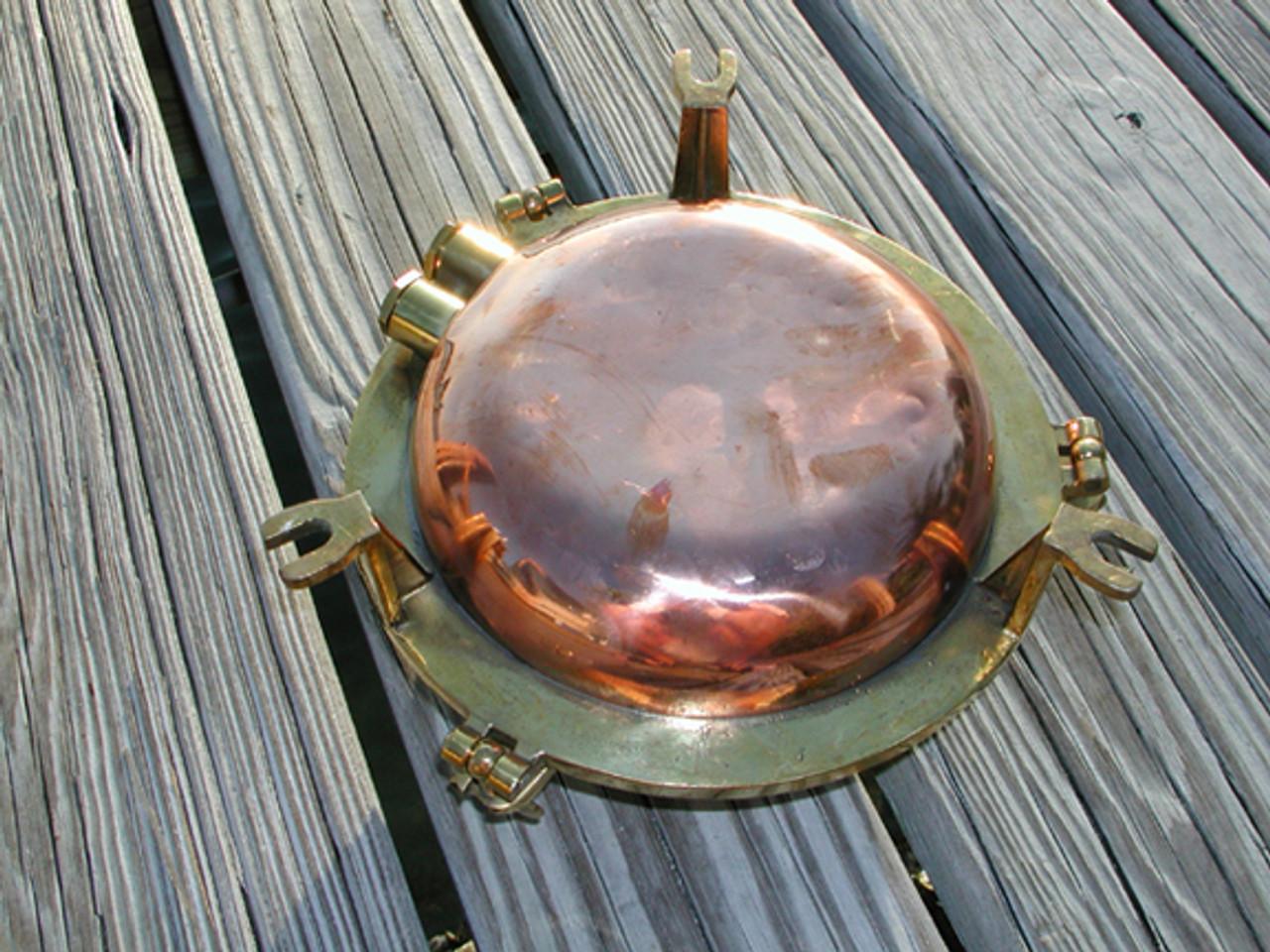 vintage copper back nautical light