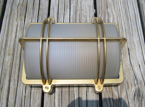 brass wall mounted ship light