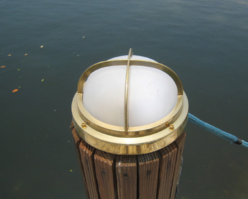 brass piling dock light