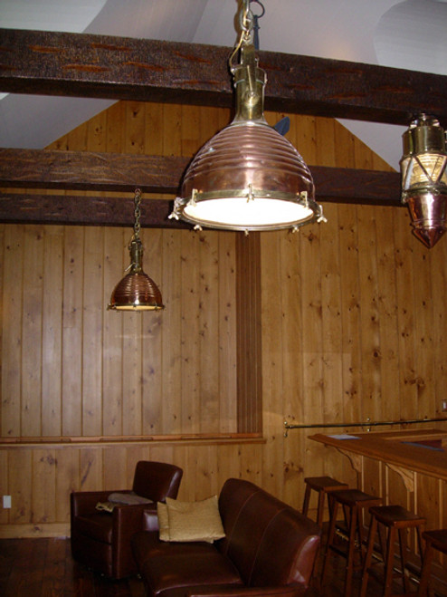 vintage copper cargo fox light