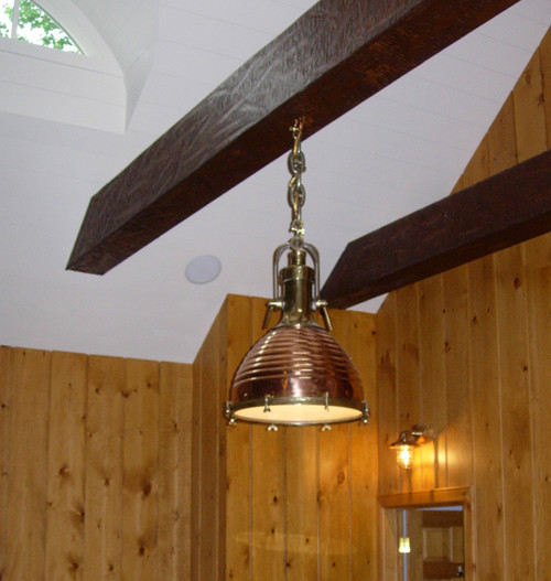 hanging copper cargo nautical light