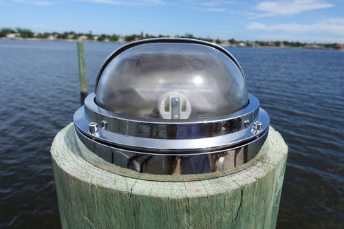 chrome piling dock light