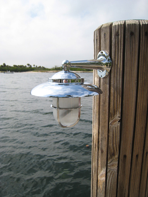 chrome nautical sconce