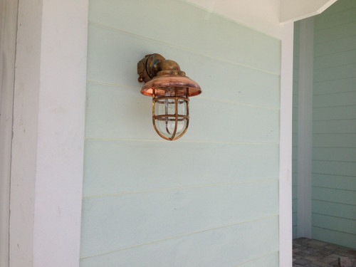 bronze ship's passageway light