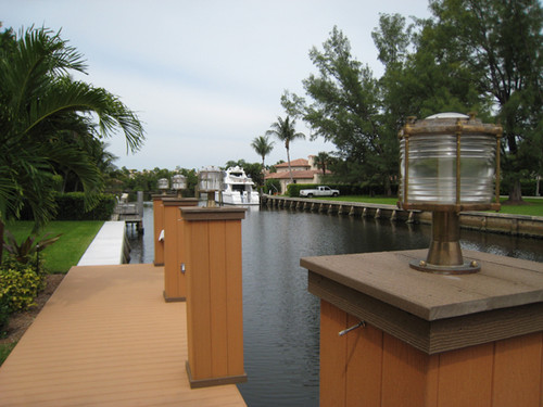 coastal nautical dock lights