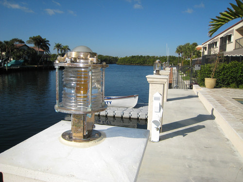 large marine pedestal dock light