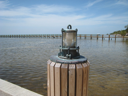 nautical weathered dock light